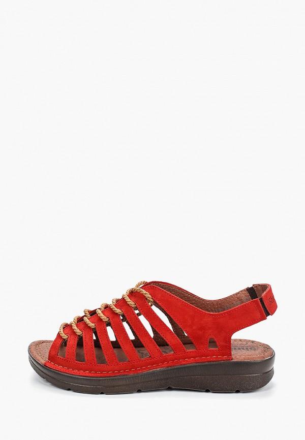женские сандалии shoiberg, красные