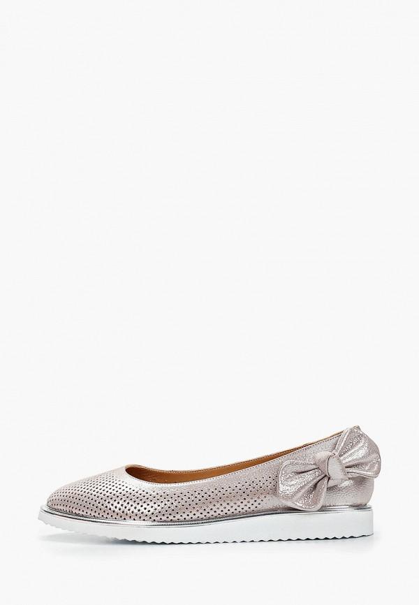 женские балетки clovis, серебряные