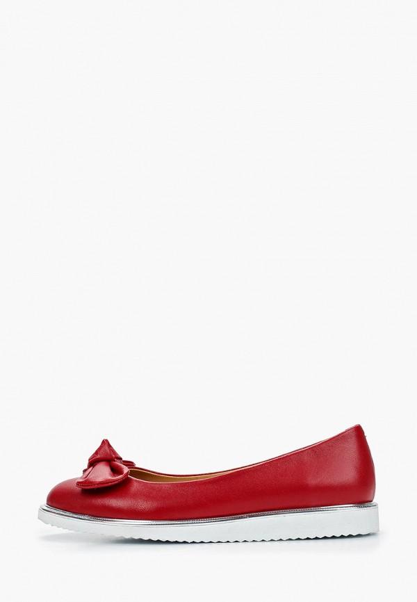 женские балетки clovis, красные