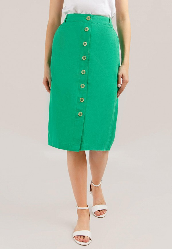 женская юбка finn flare, зеленая