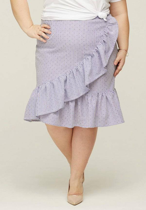 женская прямые юбка gorda bella, голубая