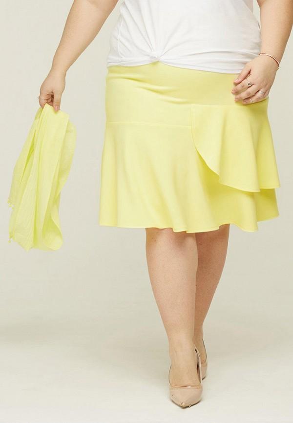 женская юбка gorda bella, желтая
