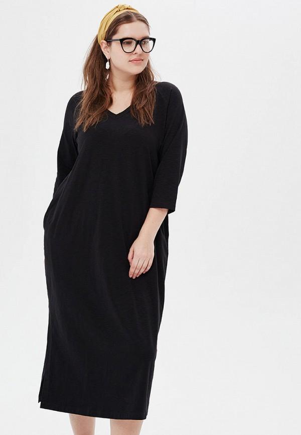 женское платье миди lessismore, черное