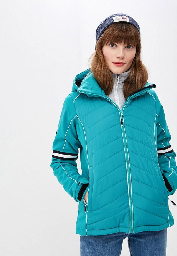 женская куртка trespass, бирюзовая