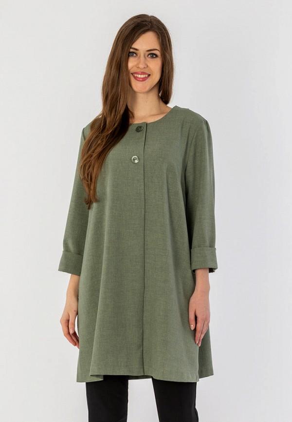 женское пальто s&a style, зеленое