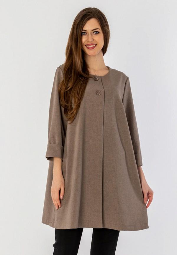 женское пальто s&a style, коричневое