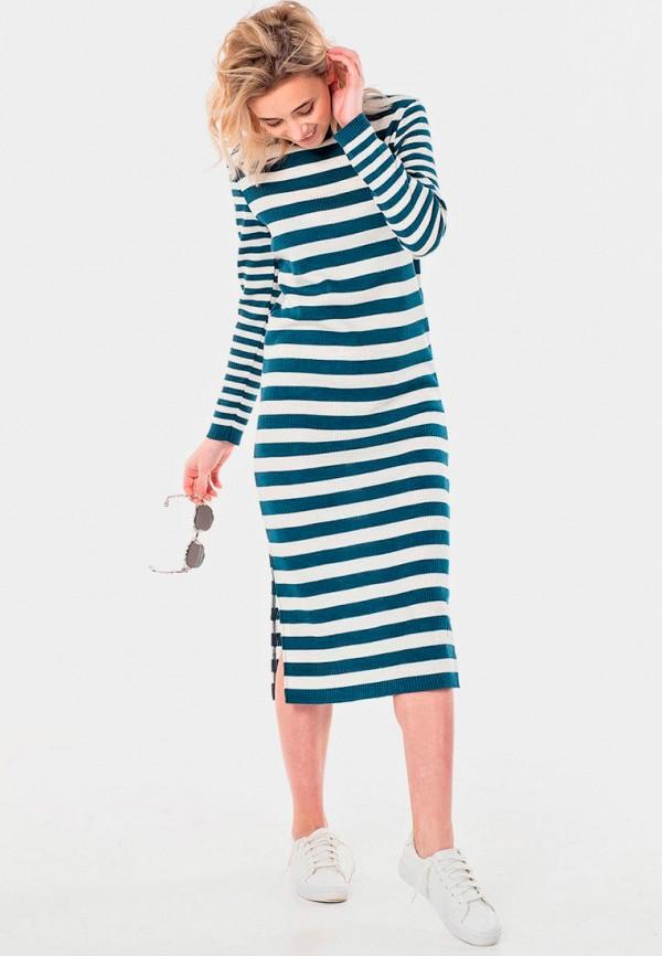 женское повседневные платье fly, синее