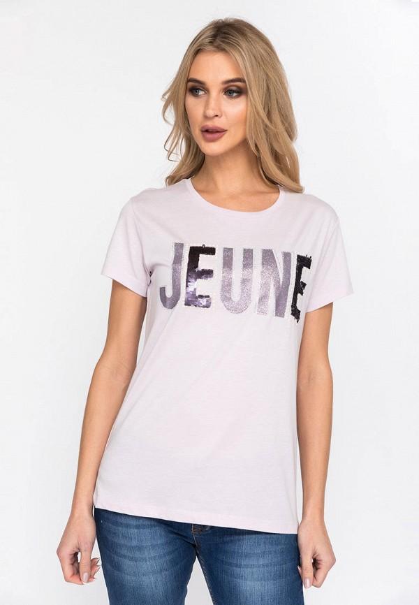 женская футболка dairos, розовая