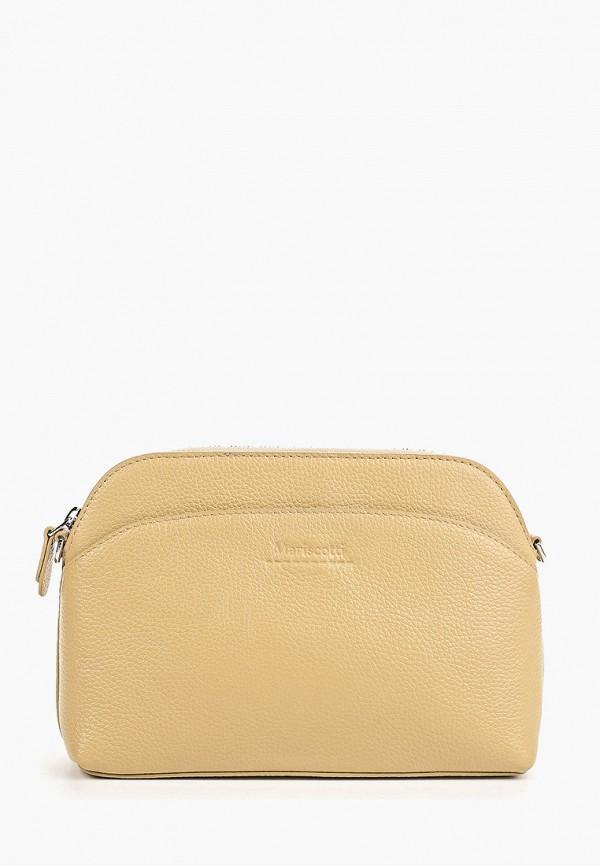 женская сумка franchesco mariscotti, бежевая