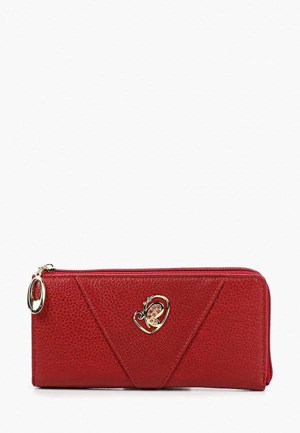 женский кошелёк franchesco mariscotti, красный