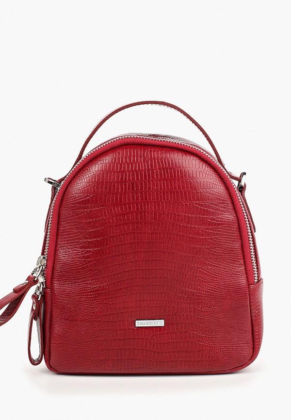 женский рюкзак franchesco mariscotti, красный