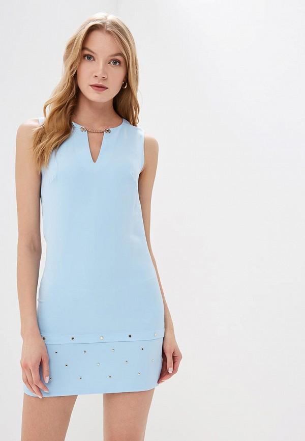 женское повседневные платье love republic, голубое