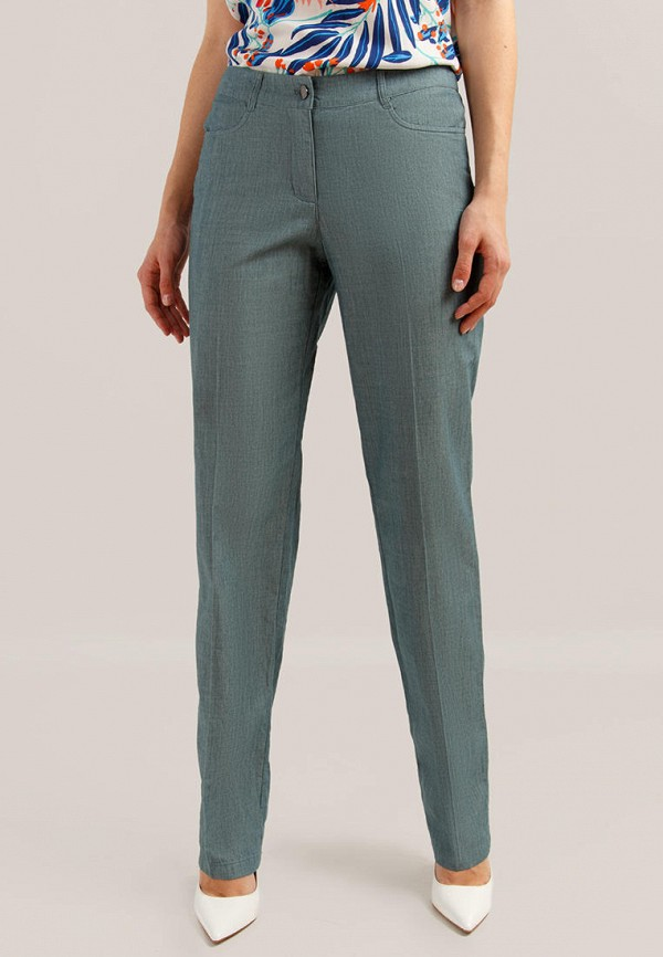 женские повседневные брюки finn flare, бирюзовые