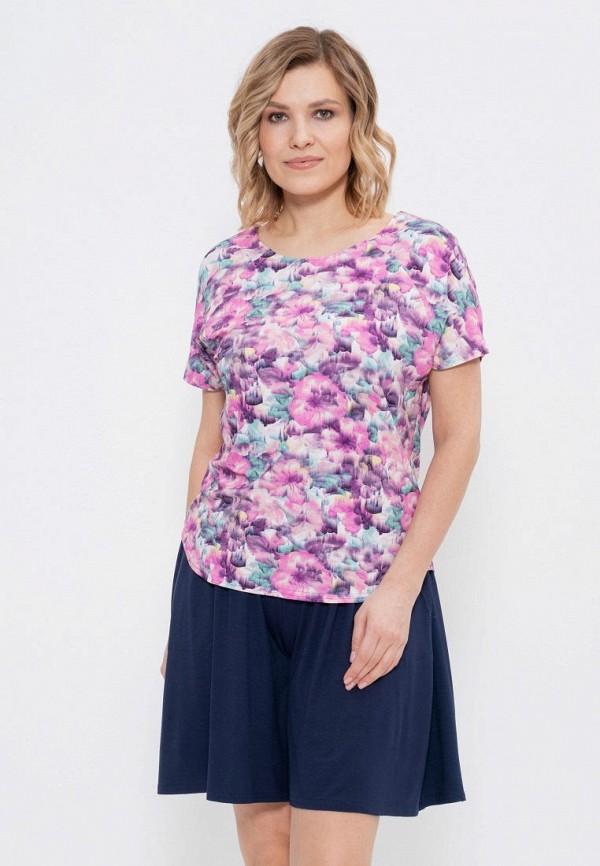женская футболка с коротким рукавом cleo, разноцветная
