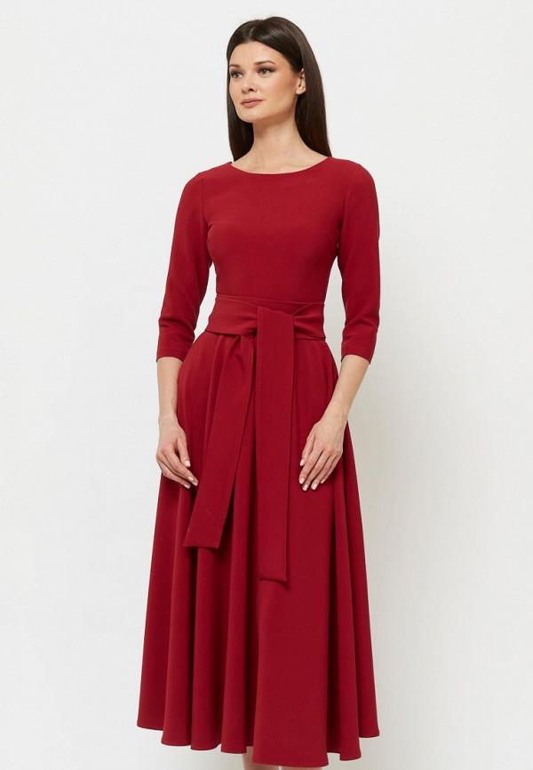 женское платье миди a.karina, бордовое