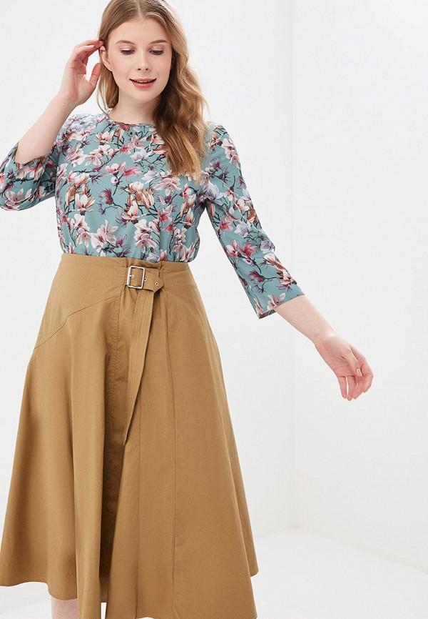 женская блузка viserdi, бирюзовая