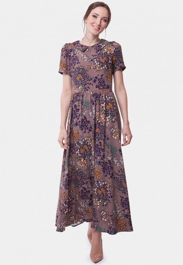 женское платье vladi collection, коричневое