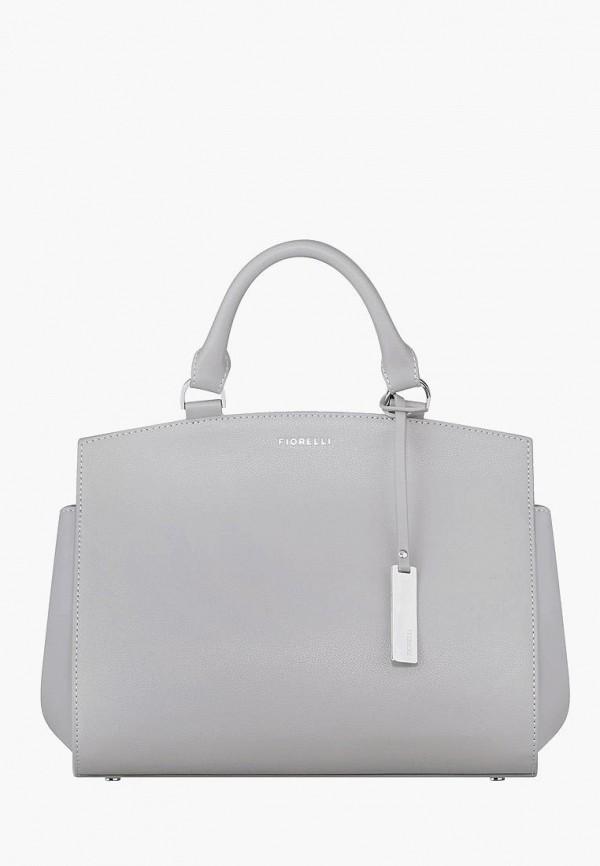 женская сумка с ручками fiorelli, серая