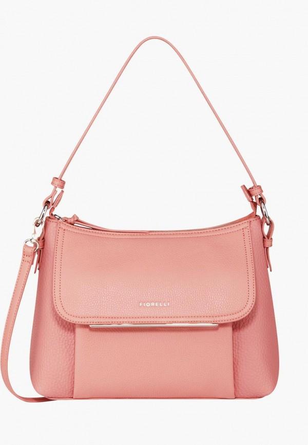 женская сумка fiorelli, розовая