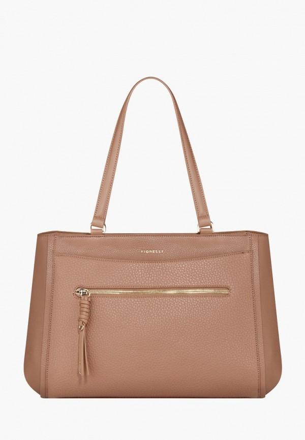 женская сумка fiorelli, коричневая