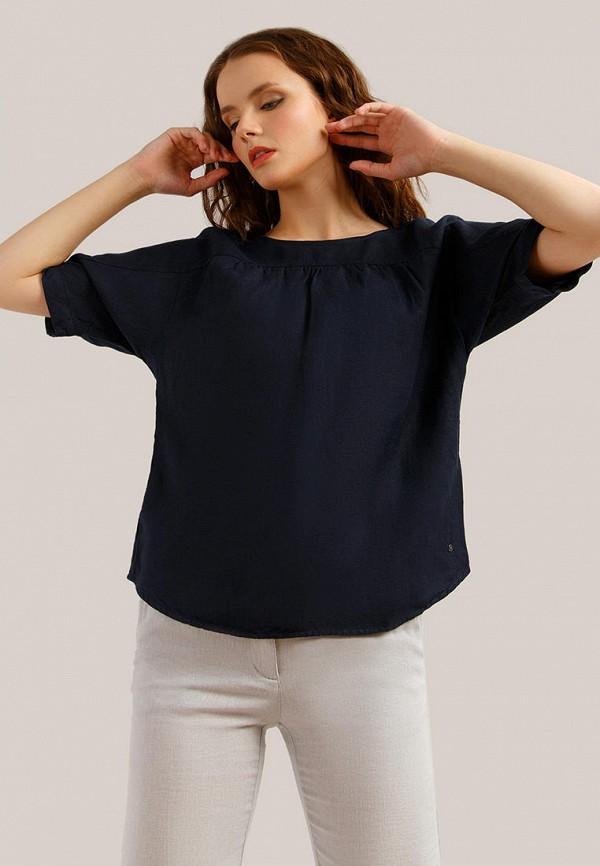 женская блузка finn flare, синяя
