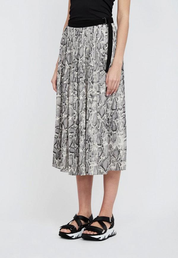 женская прямые юбка lime, серая