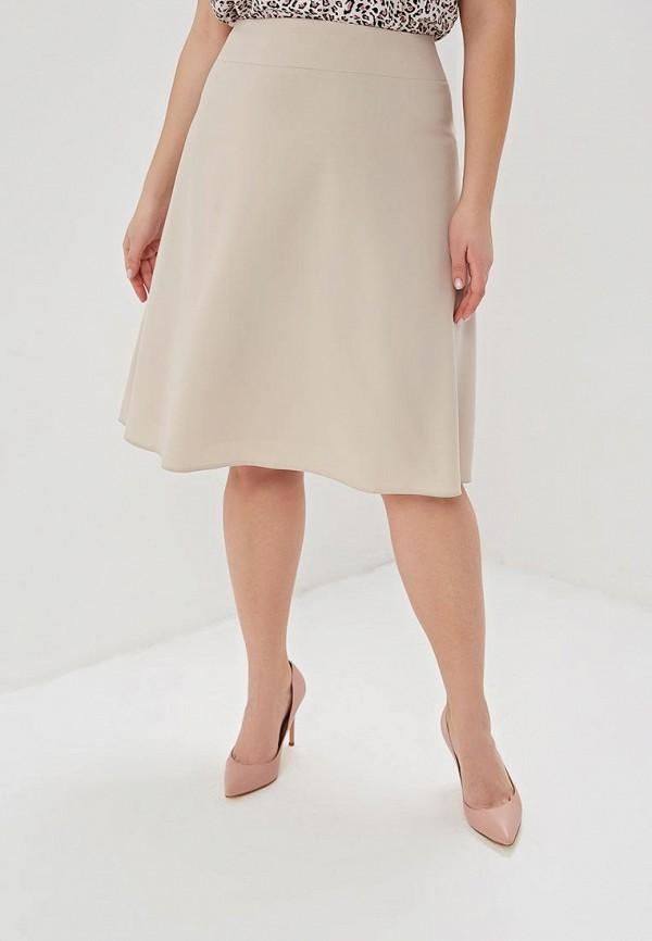 Юбка Космея Космея MP002XW0EQMS юбка трика бежевый оранжевый 54 размер