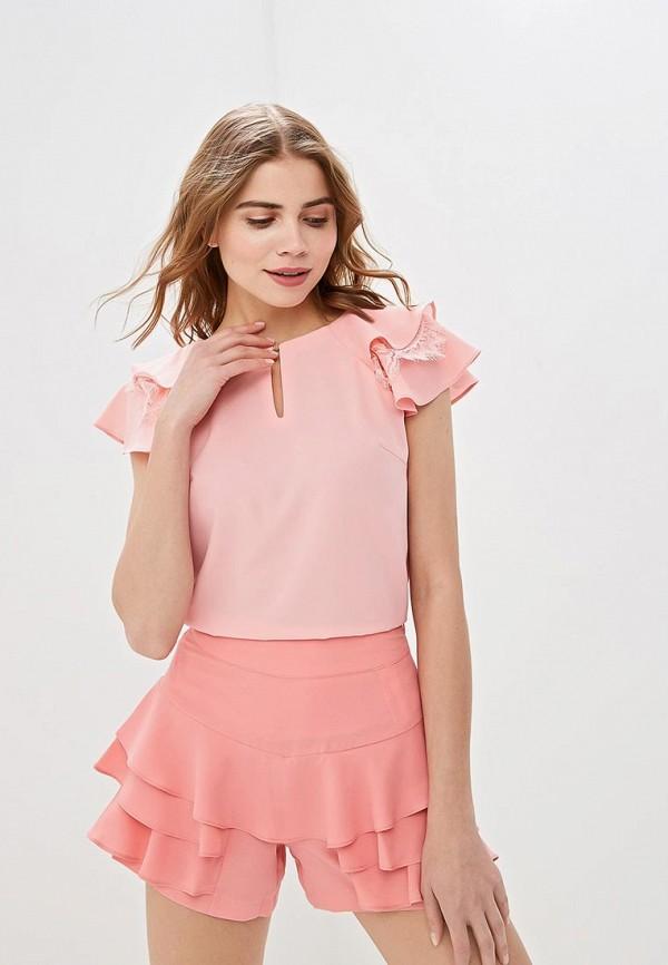 женская блузка love republic, розовая