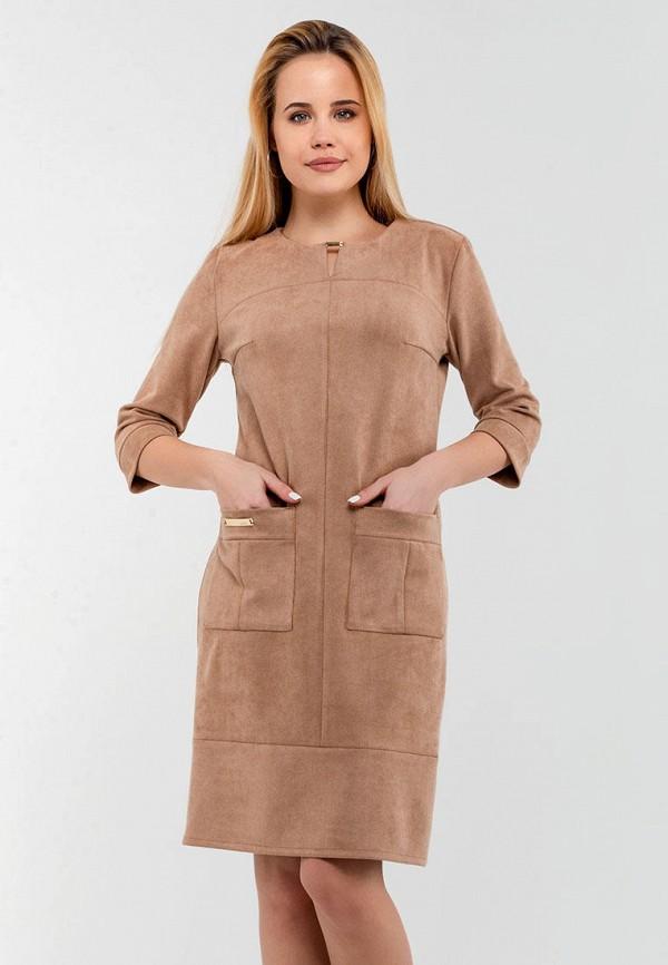 женское платье modniy oazis, коричневое
