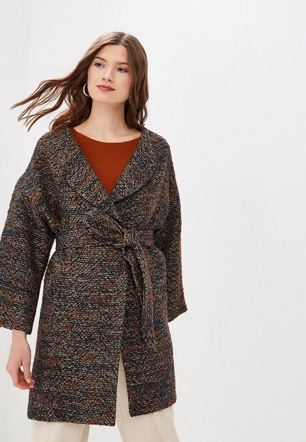 женское пальто azell'ricca, коричневое