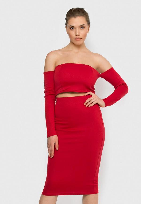 женский костюм malaeva, красный