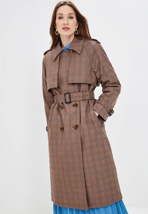 женское пальто akhmadullina dreams, коричневое