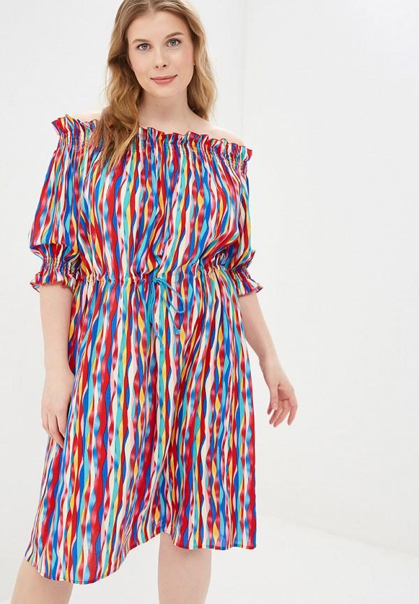 женское платье авантюра plus size fashion, разноцветное