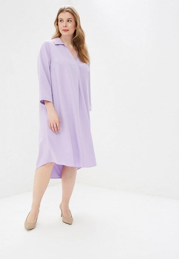 женское повседневные платье авантюра plus size fashion, фиолетовое