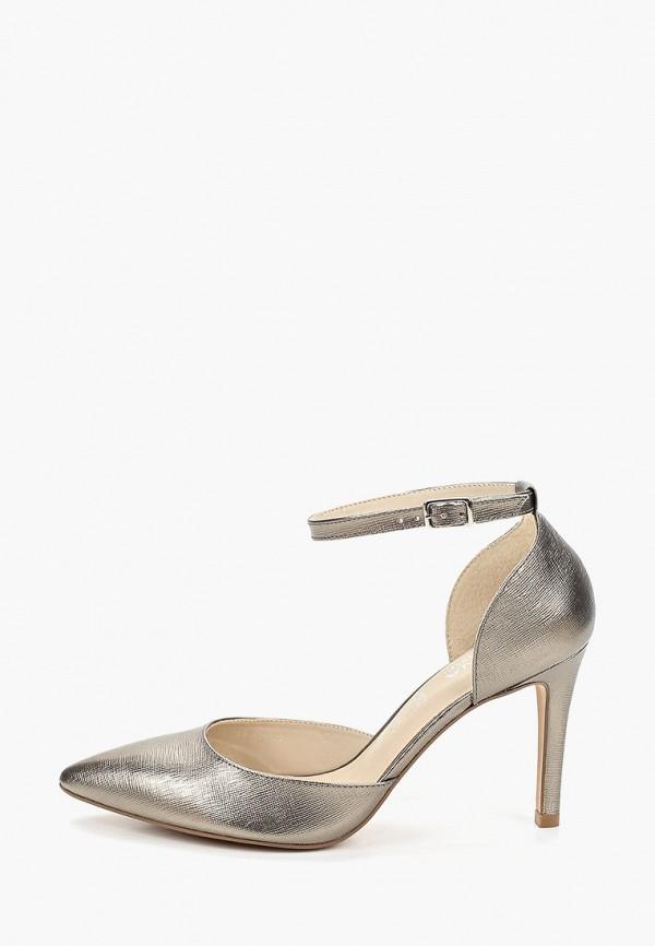 женские туфли indiana, серебряные