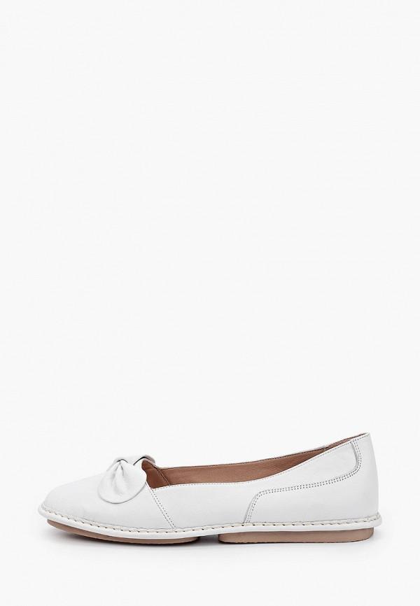 женские туфли с закрытым носом airbox, белые
