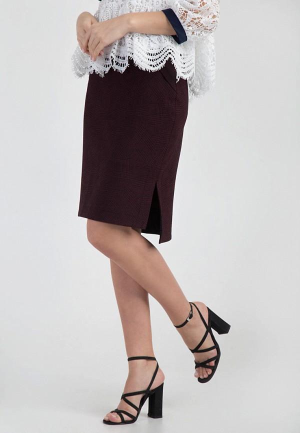 женская прямые юбка das, бордовая