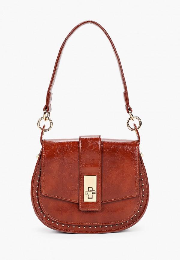 женская сумка с ручками love republic, коричневая