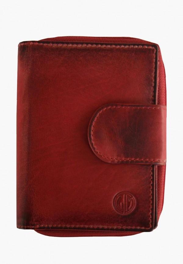 женский кошелёк lindenmann, бордовый