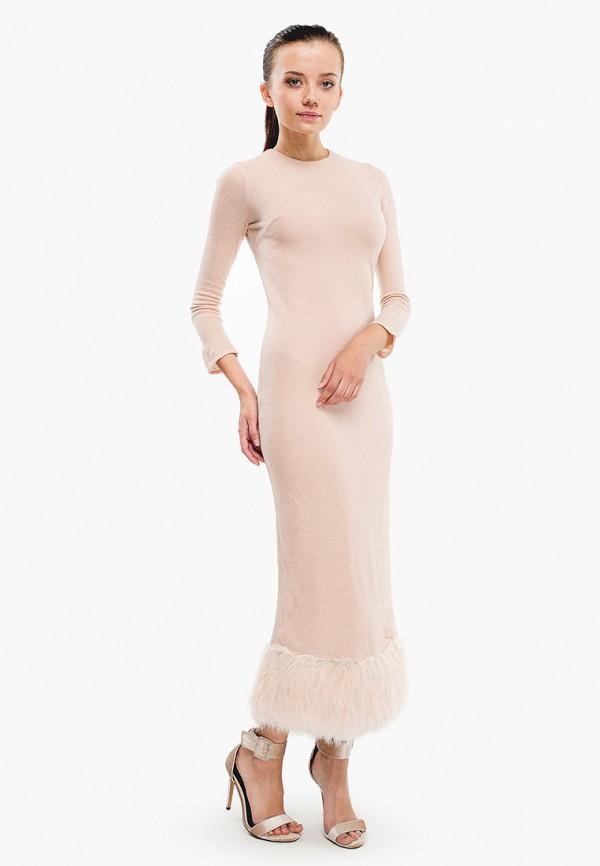 женское вечерние платье nai lu-na by anastasia ivanova, бежевое