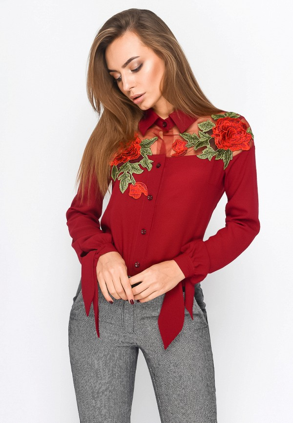 Купить Блуза Carica&X-Woyz, mp002xw0f4xo, красный, Осень-зима 2017/2018