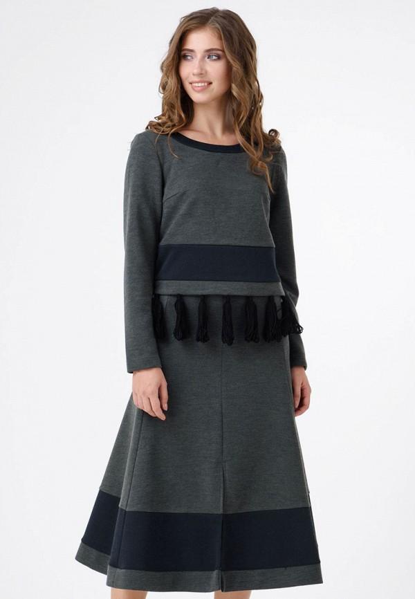 женский костюм ricamare, серый