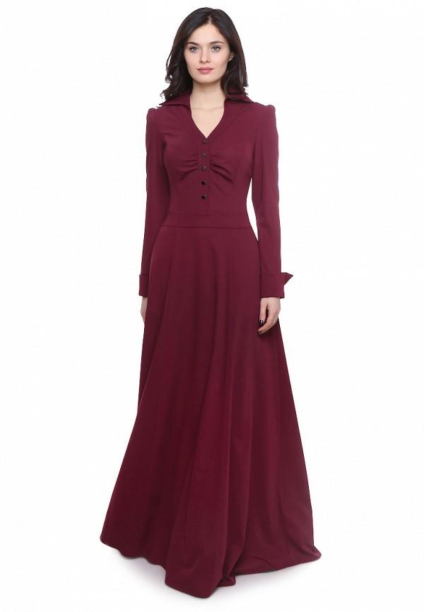 женское платье макси olivegrey, бордовое