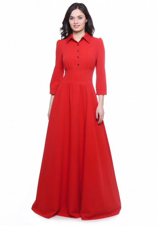 женское платье макси olivegrey, красное