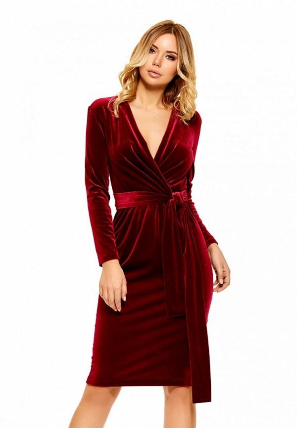 Купить Платье SoloU, MP002XW0F8MM, бордовый, Осень-зима 2017/2018