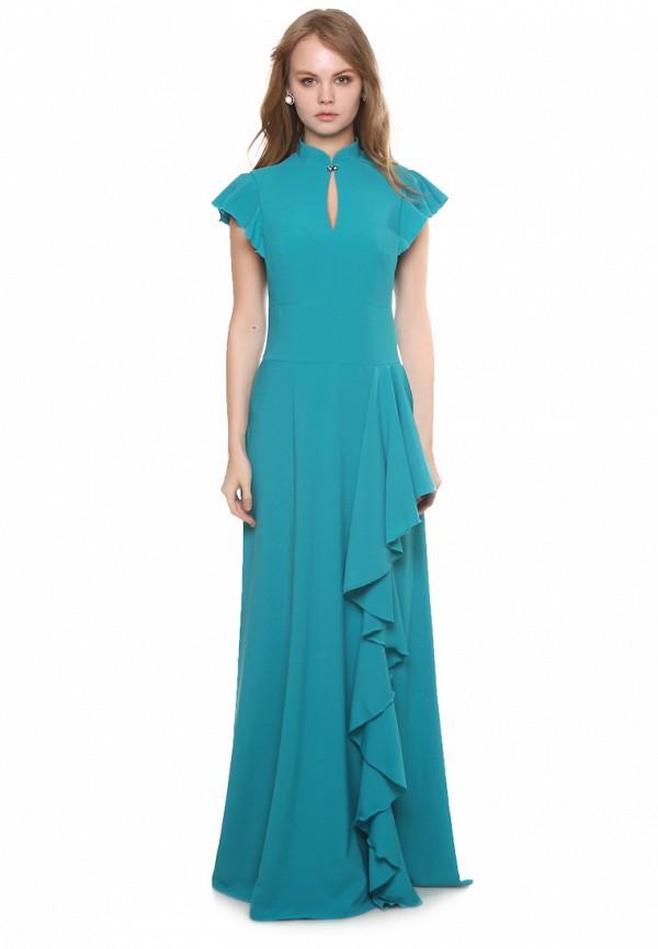 женское платье макси marichuell, бирюзовое