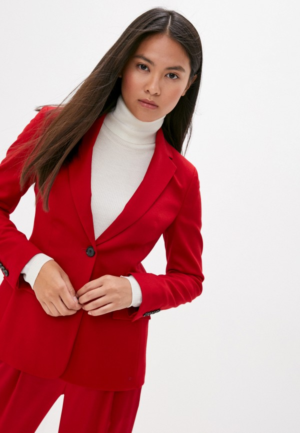 женский жакет boss, красный