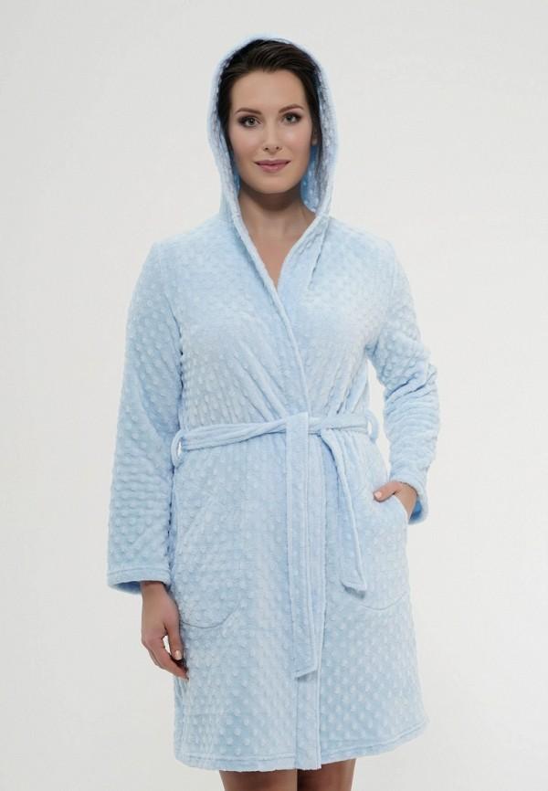 Купить Халат домашний Cleo, MP002XW0FD4V, голубой, Осень-зима 2017/2018