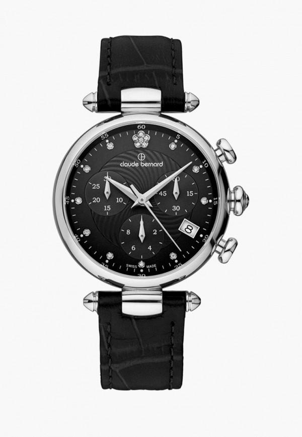 Женские черные часы Claude Bernard