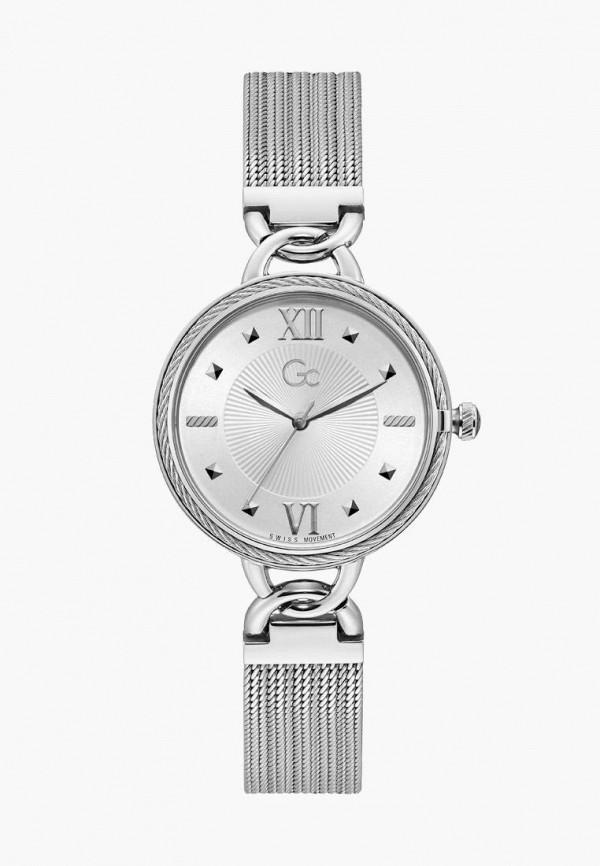 женские часы gc, серебряные